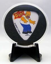 The Simpsons Guitar Pick With MADE IN USA Display Case & Easel