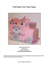 Easter Train Tissue Topper- Bunny- Tissue Topper-Plastic Canvas Pattern or Kit