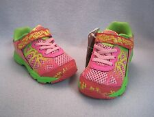 ASICS NOOSA TRI 9 TS Athletic Shoes Pink/Green TODDLER Sz 5, 6, 7, 8, 9