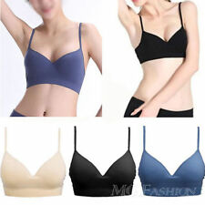 Sexy Sport Bras Athletic Yoga Crop Bra Tops Padded Wire Free Seamless Cotton