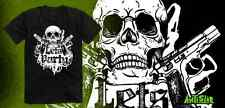 "ANTISTAR ""LETS PARTY"" T-SHIRT,GUNS,DESERT EAGLE,SKULL,BONES,DGK,VOLCOM, PIRATES"