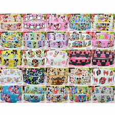 "2 5 10 50 Yds DISNEY MICKEY MINNIE MOUSE 22mm 7/8"" Grosgrain Ribbon Craft Bow MM"