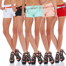 10339 Sexy Stretch-Stoff Hotpants Short kurze Hose Hot Pants Shorts Panty jeans