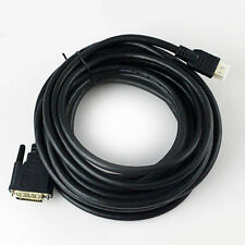 HDTV HD Black 26FT/8M 32FT/10M Gold 24+1 DVI-D Male to Male HDMI Cable US