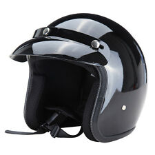 S M L XL Dot Approved Adult Motorcycle Scooter Safety 3/4 Open Face Crash Helmet