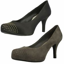 Ladies Clarks Studded Front Heels Drum Time