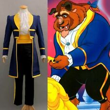 Mens Royal Prince Charming Beauty and The Beast Adult Cosplay Costume Any Size