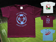 ASTON VILLA Football Baby/Kid's/Children's T-shirt Top Personalised-Name& Number