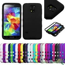 For SAMSUNG Galaxy S5 Shockproof Protective TUFF Hybrid Phone Case Cover