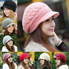 New Fashion Womens Winter Warm Knitted Crochet Slouch Baggy Beanie Hat Cap 136