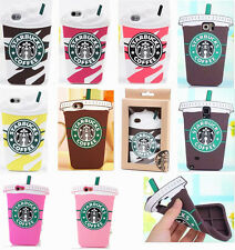 "Starbucks Coffee Silicone Cover Case Skin For iPhone5GS 5C 6 4.7"" 6+5.5""+Package"