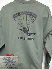 NAVY SEAL SWEATSHIRT/ PARAFROGS/ MILITARY/  NEW