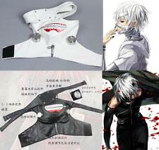 New Tokyo Ghoul Kaneki Ken Adiustable Cosplay An albino version Prop Zipper Mask