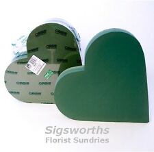 """18"""" HEART Shape Funeral Foam Frame Tribute SMITHERS OASIS Ideal Floral Floristry"""