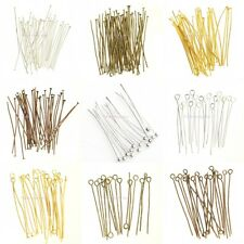 100pcs Jewelry Pins Silver/Gold/Bronze/Copper Head/Eye/Ball Pins Findings Craft