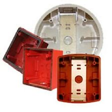 Cooper Wheelock Fire Alarm RED  WHITE Backbox IOB ZBB WBB SER E50SSB WPSBB  ESBR