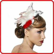 SPRING RACING WEDDING CARNIVAL COCKTAIL MELBOURNE CUP FEATHERS HAT FASCINATOR