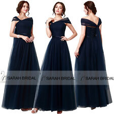 Elegant Off-shoulder Evening Gowns Mother of the Bride Dresses Pleated Bodice