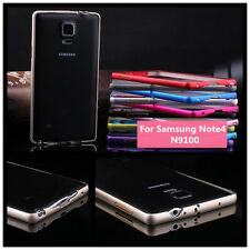 Ultra Thin Metal Aluminium Alloy Bumper Frame Cover Case For Samsung Note4 N9100