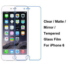 Tempered Glass/Clear/Matte/Mirror Film Screen Protector For iPhone 6 / 6S 4.7""