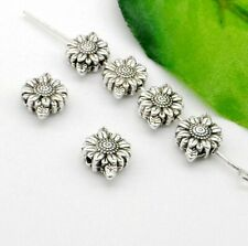 15/50/200Pcs Tibetan Silver Flower Spacer Beads 8x13mm Hole:1mm Free Ship