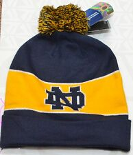 UNDER ARMOUR NOTRE DAME FOOTBALL PLAY LIKE A CHAMPION BLUE GOLD KNIT BEANIE