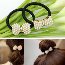 Newest Womens Ladies Sweet Bow Shape Rubber Band Hair Ring Rope Hair Accessories