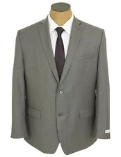 NEW Mens Joseph Abboud Gray Pinstripe Wool Suit