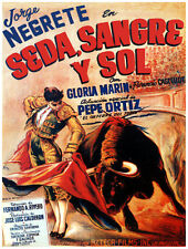 4878.Jorge negrete en sera, sangre y sol.POSTER.Decoration.Graphic Art