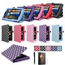 For 2015 Amazon Kindle Fire HD 7 Tablet PU Leather Folio Smart Fit Case KJ