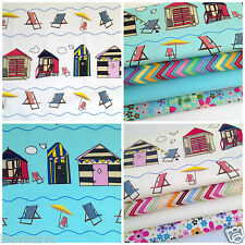 At the seaside beach hut fat quarter bundles & fabrics 100 % cotton fabric