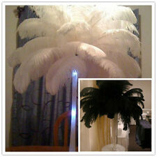 Beautiful! 10/50/100pcs (white/black) natural ostrich feathers 16-18inch/40-45cm