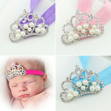 1Pc Sweet Newborn Baby Girls Pearl Crown Headband Hair Band Hair Accessories