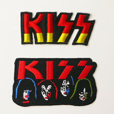KISS - Patch SET OF TWO Embroidered Iron-On Patches - UK - FREE POST
