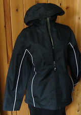 NWT WOMEN'S WINDBREAKER RAINCOAT BLACK JACKET MESH LINED PLUS SIZE 1X 2X 3X