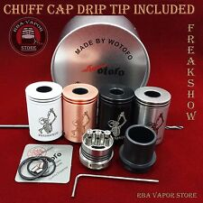 AUTHENTIC FREAKSHOW RDA BY WOTOFO WITH INCLUDED CHUFF / COMP DRIP TOP ALL COLORS