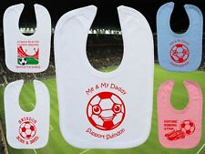 SWINDON TOWN Football Baby Bib-White/Blue/Pink-Personalised Gift-Boy/Girl-Cotton