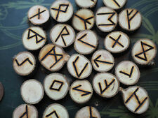 Hawthorn Elder Futhark Runes - with Bag & Information sheet- Pagan, Wicca, Norse