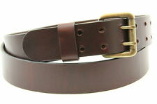 "Made in America 1 1/2"" Chestnut Oiled Latigo Leather Belt With Double Hole"