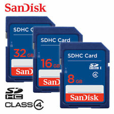 SanDisk SD 4GB 8GB 16GB 32GB CLASS 4 Flash Memory Card SDHC for Camera Lot Pack