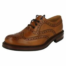 Mens Loake Tan leather Brogue lace up shoes EDWARD G FITTING