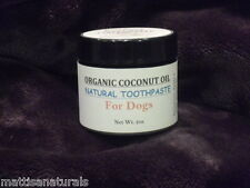 Organic Coconut Oil Natural Toothpaste for Dogs (2 oz)