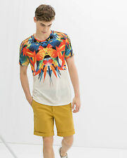 ZARA MEN'S PARROT YOKE T - SHIRT SIZE LARGE  SOLD OUT ONLINE & STORES