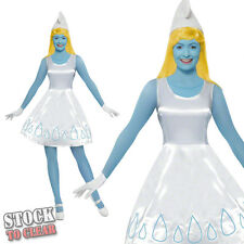 1980s Ladies SMURFETTE Fancy Dress Costume Licenced 80's SEXY SMURFS