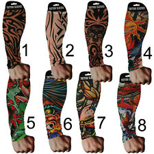 SET OF 2 TATTOO SLEEVES GOTH TEMPORARY ARMS STOCKINGS PUNK STRETCHY FAKE NEW