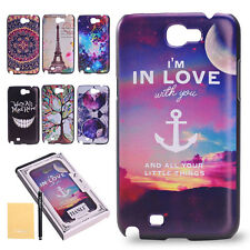 Wave Anchor Various Pattern Painted Plastic Case Cover for Samsung Galaxy Note 2