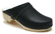 AM-Toffeln 100 Wooden Clog in navy leather