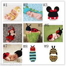 Free ship Newborn Baby Boys Girls Diaper Crochet Knit Photography Props Outfit