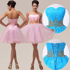 Sexy Short Homecoming MIni Beaded Evening Bridesmaid Cocktail Party Prom Dresses