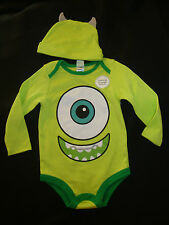 "DISNEY  MONSTERS INC. ""MIKE"" BODYSUIT & HAT NWTS  EVERYDAY CUTE!!!"